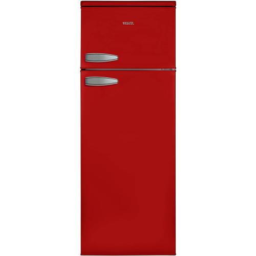 Vestel VFKR 3196 Kühl-Kombination Rot