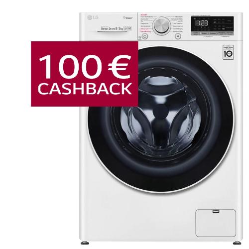 LG V4WD850 Waschtrockner 8 kg waschen / 5 kg trocknen – 1400 U./Min. CASHBACK 100€