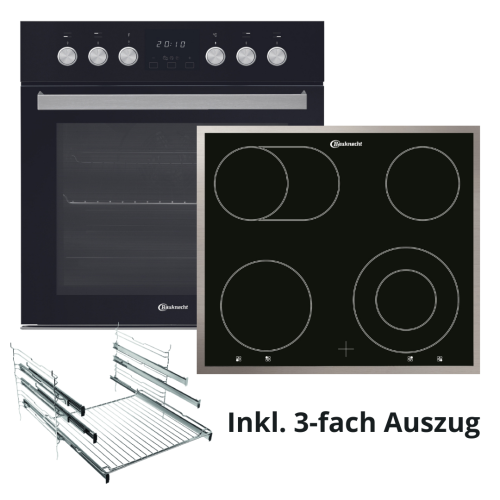 Bauknecht HEKO H500 Black Glass Einbauherd